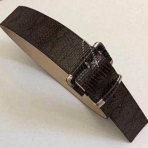 WHBM Brown Faux Snake Skin Belt
